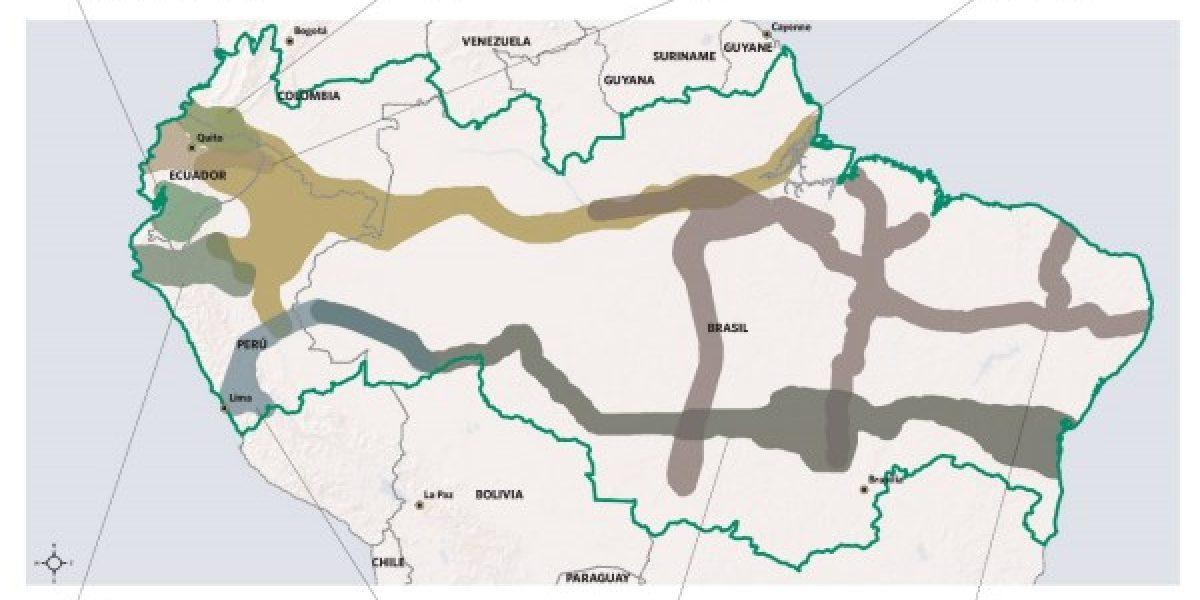 Carreteras en zonas protegidas de la Amazonia