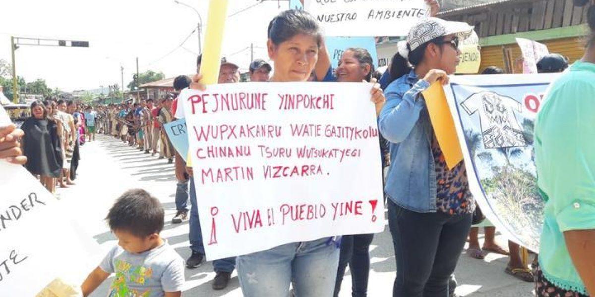 Indígenas de Atalaya (Ucayalí) exigen dialogo al Gobierno Central